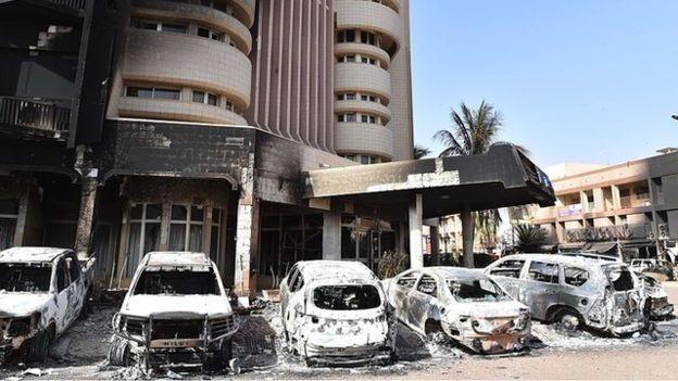 Готель Splendid в столиці Буркіна-Фасо Уагадугу після теракту